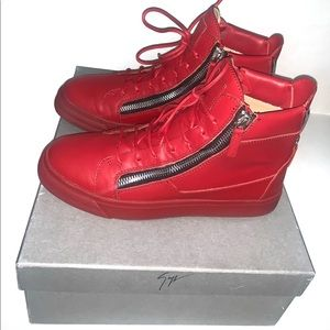Giuseppe Zanotti red leather sneakers